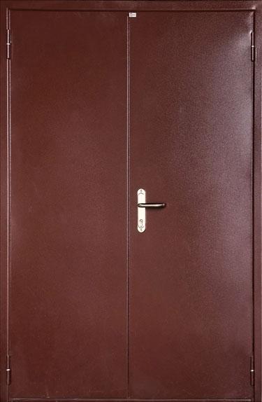 металлическая дверь двуполая